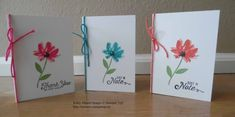 Note Cards made with Stampin' Up!'s Avant Garden Stamp Set. For details, go to my Thursday, February 9, 2017 blog at http://www.stampinup.net/blog/2130686/entry/avant_garden_note_cards