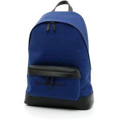 Navy Backpack (£535) ❤ liked on Polyvore featuring bags, backpacks, balenciaga bag, balenciaga, navy blue bag, daypack bag and backpack bags