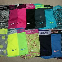"Nike Pro Core Essential Compression Shorts 2.5"" (1-Pair) Spandex Yoga Tights"