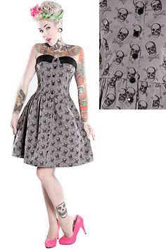 Skull and crossbones dress