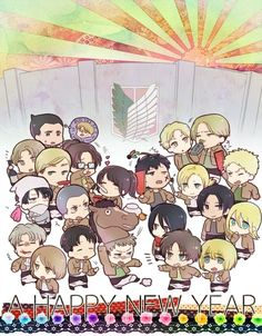 Shingeki no Kyojin (Attack on Titan) ~~ 2014 New Year art :: I sincerely hope to watch this series soon!