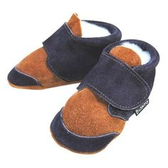 """Buskins Baby Shoes: Hopper Suede Baby Shoes in Tan/Navy (Size=1:(0-6M) 4\"""") by littlebabyshoes. $28.00. NO EXCHANGE/RETURN FOR ITEMS ON SALE The Buskins Hopper shoes are great for little boys and girls. Features:    Handcrafted in Australia from premium leather    Soft, flexible and skid resistant suede sole    Velcro fast makes it easy to slip-on and they stay-on!    Washable by hand or machineThe Australian-made Buskins shoes are one of the oldest brands of soft-soled ..."""