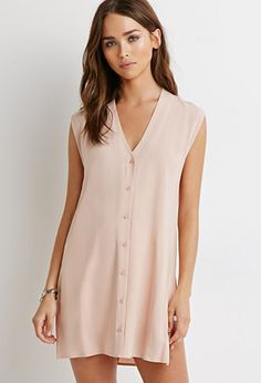 Buttoned Side-Vent Dress | Forever 21 | #thelatest