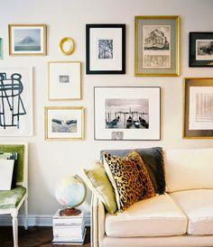 Paredes: Composición de cuadros atrevidas | Decorar tu casa es facilisimo.com