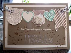 Geburtstagskarte mit Stampin Up und Hearts a Flutter