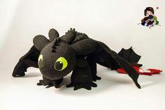Toothless How to Train Your Dragon Crochet Amigurumi | Crafty Amino