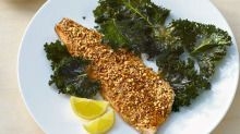 Kale chips - healthy treat that's easy to make in minutes.