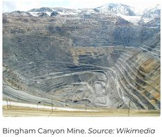 The Bingham Canyon Mine located in Utah is the largest man-made excavation in the world. Its pit is greater than 0.75 mile in depth and it is 2.5 miles in width. It was turned into a National Landmark in 1966. @ManhattanProEng #mining #miningtrivia #miningfacts #opencast