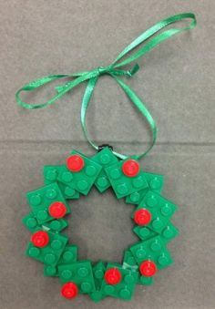 Custom Lego Christmas Holiday Ornament Wreath New   eBay