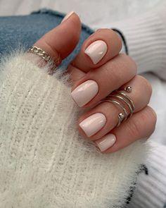 White Gel Nails, Neutral Nails, Nude Nails, Stylish Nails, Trendy Nails, Picasso Nails, Summer Toe Nails, Short Gel Nails, Glamour Nails