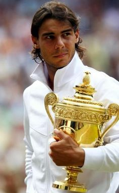The truly wonderful Rafa, out of Wimbledon but for me, still the best. Respectful, gracious and a fighter.