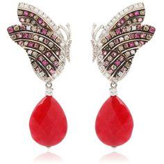 Each piece is unique. 18kt Gold. White diamonds: 0.52ctw. Clarity: VS. Color : G. Brown diamonds: 0.60ctw. Ruby: 0.54ct. Pink sapphires: 1.30ctw. White topaz. …