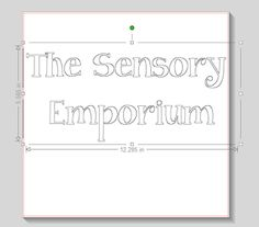 The Sensory Emporium: How to Fill Double Line Fonts