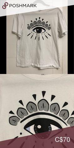 KENZO/Men's/Unisex/ T-Shirt/XL/ KENZO/Men's/Unisex/White With Eye On Front/XL/ T-Shirt Kenzo Shirts Tees - Short Sleeve
