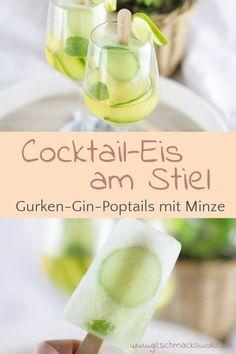 [Anzeige] Gurken-Gin-Poptails - Erfrischendes Cocktail-Eis am Stiel mit Needle Gin - #poptails #gurkenginpoptails #cocktails #cocktail #cocktaileis #popsicle #eisamstiel Gin, Pop Sicle, Ice Ice Baby, Refreshing Cocktails, Fabulous Foods, Cucumber, Ice Cream, Yummy Food, Desserts