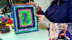 """Locker Hooking For Beginners - HowToGetCreative.com with Barb Owen.  Nice clear video. She uses 1"""" strips of good-quality batiks. Pretty!"""