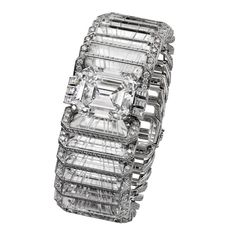 Illumination bracelet from the Cartier Magicien high jewellery collection with a central 31.16ct diamond surrounded by rock crystal slices (POA).