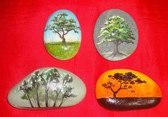 Here's are some samples of Pebble Art. And the trees are actually part of this 'International Forest Year' campaign. We will be having a boo. Pebble Painting, Pebble Art, Stone Painting, Rock Painting, Stone Crafts, Rock Crafts, Diy Crafts, Pebble Stone, Stone Art