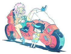 Kaneda's Bike, Guillaume Singelin http://otomblr.tumblr.com/post/53871498308 ★ || CHARACTER DESIGN REFERENCES | キャラクターデザイン  • Find more artworks at https://www.facebook.com/CharacterDesignReferences & http://www.pinterest.com/characterdesigh and learn how to draw: #concept #art #animation #anime #comics || ★