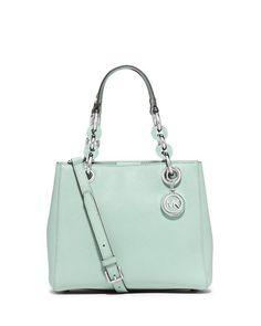 New Designer Handbags at Neiman Marcus Michael Kors Cynthia, Michael Kors Satchel, Bago, Crossbody Bag, Satchel Bag, Leather Satchel, Handbag Accessories, 5 D, Neiman Marcus