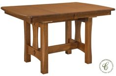 Golden Gate Narrow Amish Trestle Table - Countryside Amish Furniture