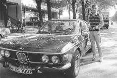 Franz Beckenbauer and his BMW 2800 CS