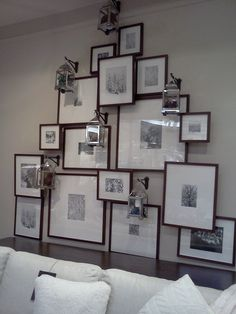 Pottery barn picture frame display <3