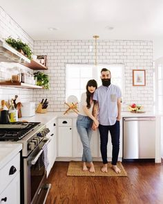 """16.2k Likes, 117 Comments - Robert & Christina (@newdarlings) on Instagram: """"Today on the blog (link in profile), we are revealing our newly remodeled kitchen. It has quickly…"""""""
