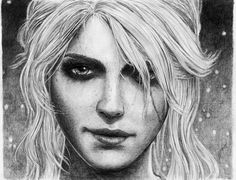 My first deviation - a fan art portrait of Ciri from the Witcher 3: Wild Hunt. Medium: Pencil on Paper