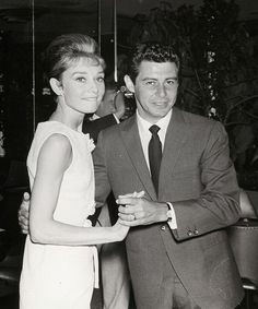The actress Audrey Hepburn photographed dancing with the entertainer Eddie Fisher at the Desert Inn Hotel and Casino, located on Las Vegas Blvd South, in Paradise, Nevada (USA), during a party offered by Eddie's wife, the actress Elizabeth Taylor,...