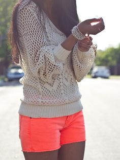love sweaters and shorts