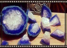 Amethyst Geode Soap Gemstone Soap Crystal Soap by TheSweetKarmaBar
