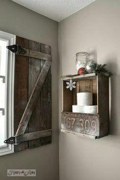 @FunkyJunkInteriors - add shutter to basement window