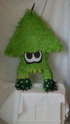 Splatoon inkling squid piñata. To order go to www.etsy.com/shop/lovablepinatas