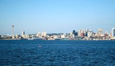 """Seattle Cityscape,  as would be viewed as a cruise vessel left """"safe"""" harbour"""