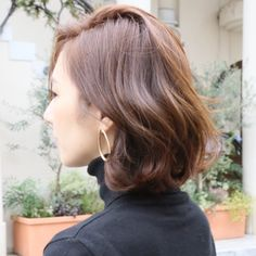 Short Grunge Hair, Short Curly Hair, Curly Bob, Medium Hair Styles, Curly Hair Styles, Balayage Bob, 50s Hairstyles, Ash Blonde Hair, Brunette Color