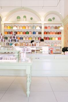 Miette - The most adorable Sweet Shop in San Francisco! Glass jars make organizing look chic!