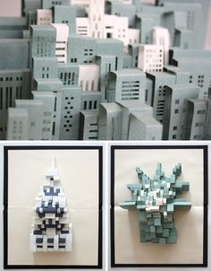 Unfolding Urbanism: Pop-Up Paper Art of New York City Pop Up, Castle Silhouette, Paper Architecture, Paper Pop, Up Book, Building Art, Paper Artwork, Origami And Kirigami, Book Sculpture