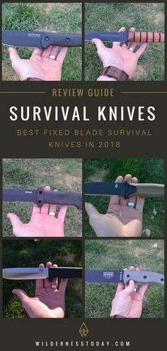 We've tested over 80 knives to find the best survival knives for your next camping expedition or wilderness adventure.  We go in-depth on our top 10 in this article.  #Wilderness #Camping #SurvivalKnives #SurvivalKnife #FixedBlade #OutdoorGear #CampingGear