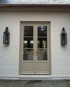 Doorway painted Benjamin Moore Texas Leather AC-3