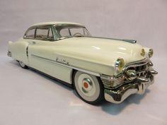 Vintage 1950 Cadillac Sedan White Tin Friction Car Made in Japan | eBay