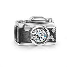 Vintage Camera Charm 925 Sterling Silver - SOUFEEL #SterlingSilverCharms