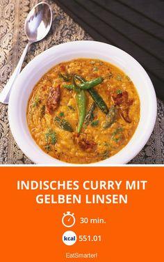 Indisches Curry mit gelben Linsen - smarter - Kalorien: 551.01 kcal - Zeit: 30 Min. | eatsmarter.de