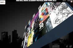 Red Bull Music Academy #WebGL #3D