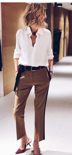 I like these pants. The color, fit and style are nice, but I would want them longer to cover the ankle.