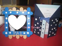Prenda (moldura) e postal Dia do Pai - berçário