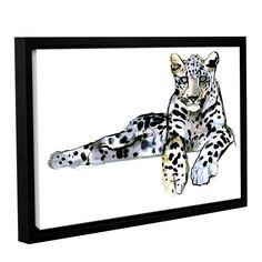 ArtWall Mark Adlington's 'Arabian Leopard II' Gallery Wrapped Floater-framed Canvas