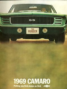 1969 Chevy Camaro SS brochure