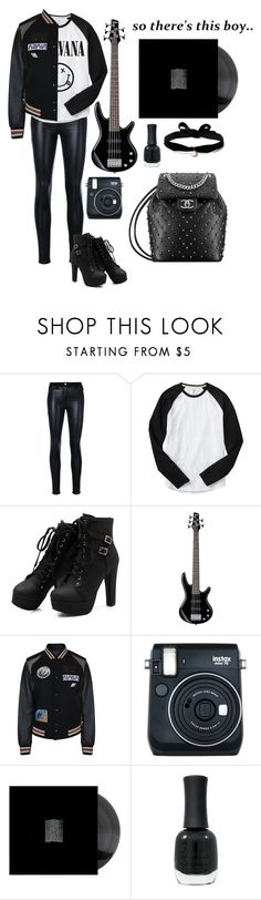 """Calum Hood"" by lowkeycollby ❤ liked on Polyvore featuring Versace, Gap, Coach, Fuji, Charlotte Russe and Aamaya by Priyanka"