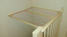 DIY wasrek boven trapgat